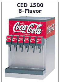 CED 1500 6-Flavor Soda Dispenser