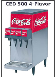 CED 500 4-Flavor Soda Dispenser